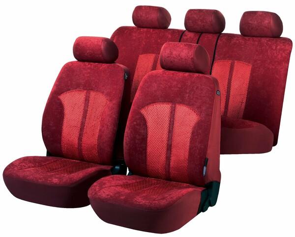 Autositzbezüge Velvet rot