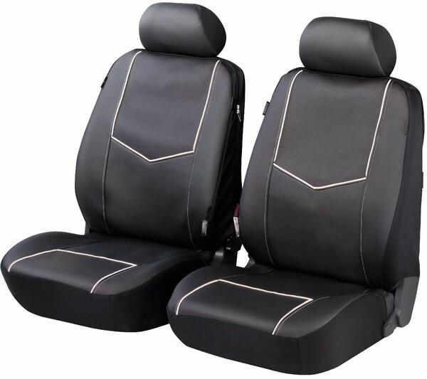 ZIPP IT Deluxe York Auto Sitzbezüge aus Kunstleder für Vordersitze mit Reissverschluss System