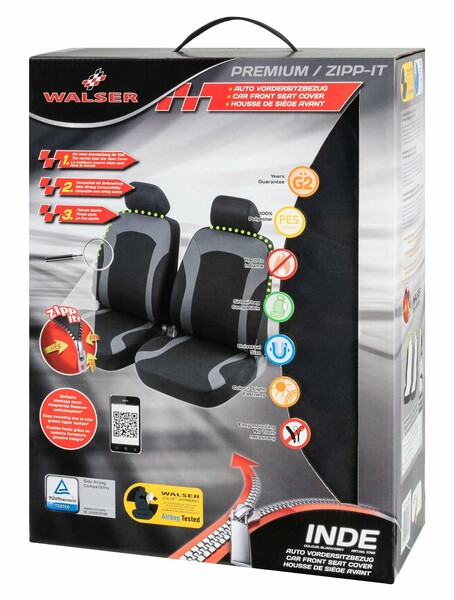 ZIPP IT Premium Inde Auto Sitzbezüge für Vordersitze mit Reissverschluss System