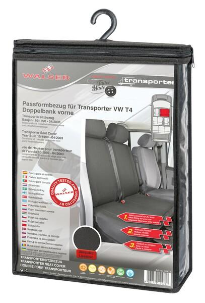 Sitzbezüge für VW T4 Doppelbank vorne aus Polyester für Baujahr 10/1998 - 03/2003