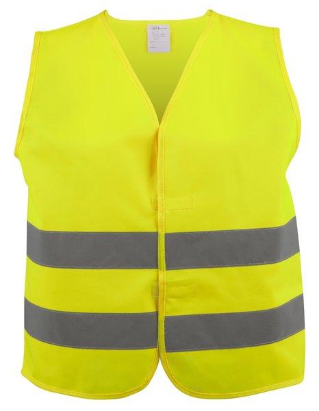 Sicherheitsweste Größe L für Erwachsene Gelb EN 471/2 43973