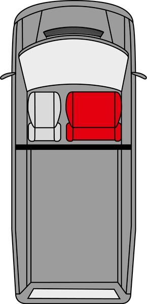 Passform Sitzbezüge für Ford Transit Doppelbank vorne aus Kunstleder ab Baujahr 05/2014 - heute
