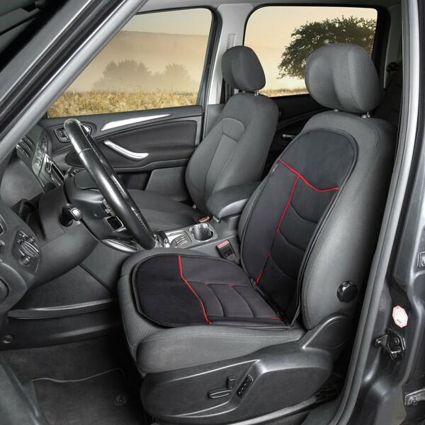 Sitzaufleger Elegance Plus rot schwarz