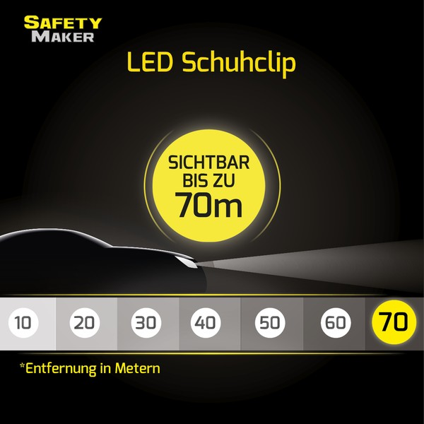 LED Schuh Clip rot