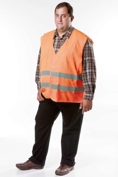 Sicherheitsweste Größe XXXL für Erwachsene Orange EN 471/2 43876