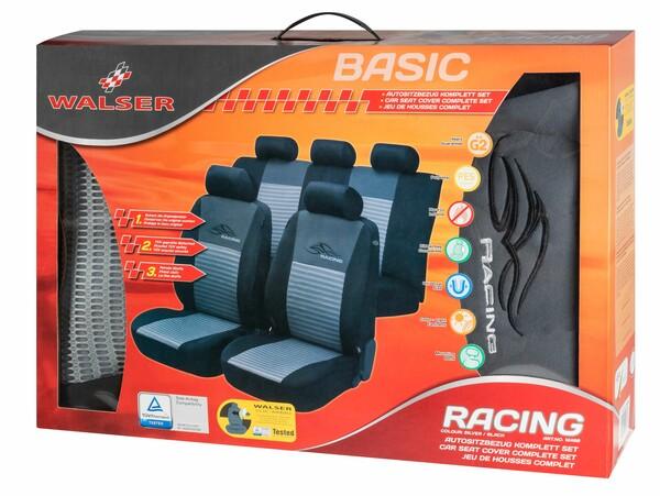 Sitzbezüge Racing silber