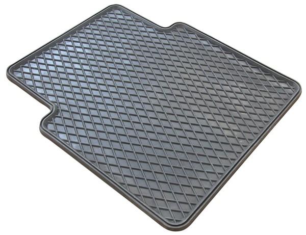 Gummimatte Randwaben 47x41 cm hinten grau