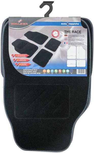Autoteppich The Race schwarz / weiß