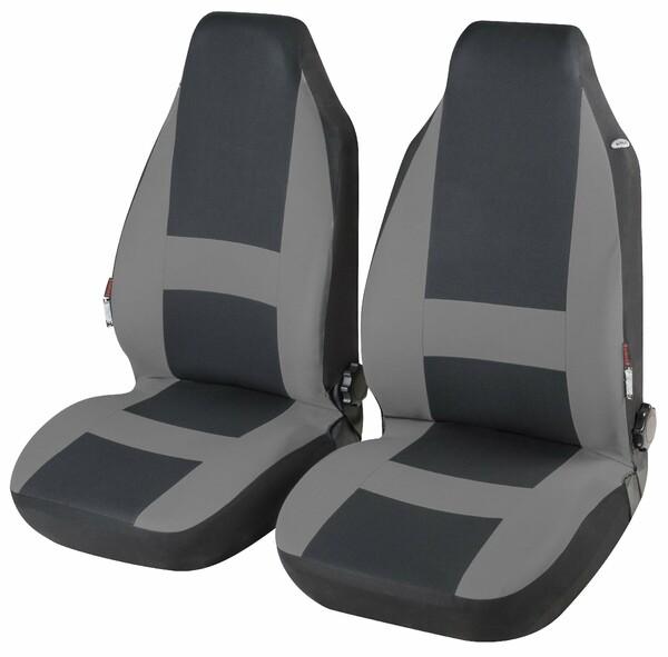 Autositzbezug Pocatello grau Highback für 2 Vordersitze
