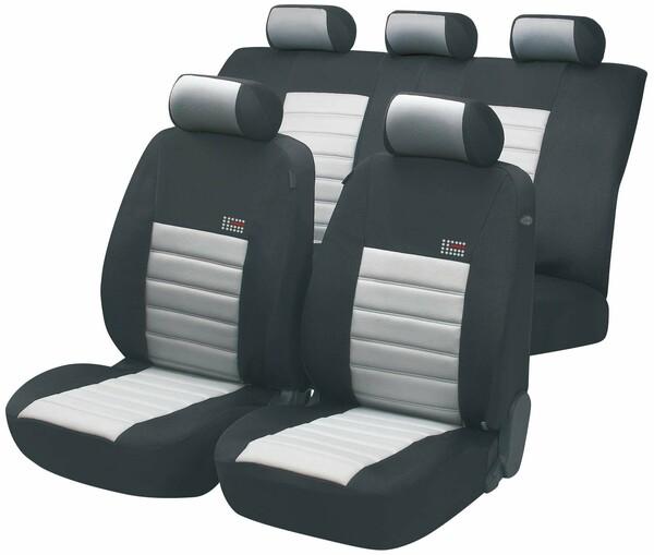 ZIPP IT Premium Sport Speed Sitzbezüge mit Reissverschluss System in Grau