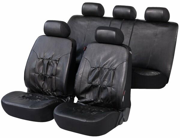 Autositzbezüge Nappa Touch schwarz aus Kunstleder