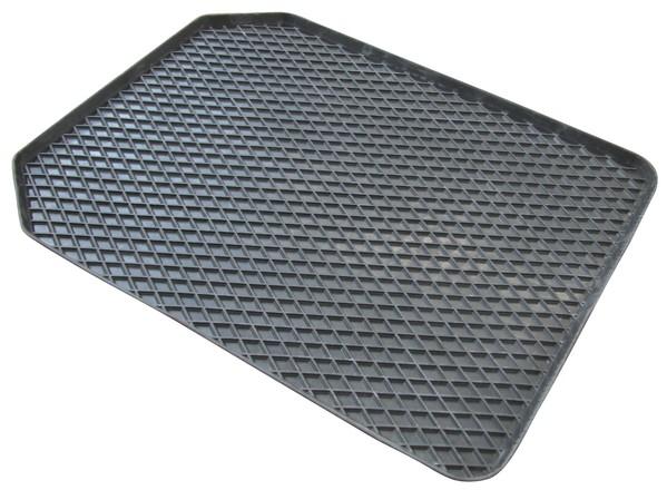 Gummimatte Randwaben 54x43 cm Vorne grau