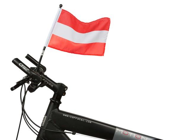 Fahrrad Fahne Österreich 21 x 16 cm