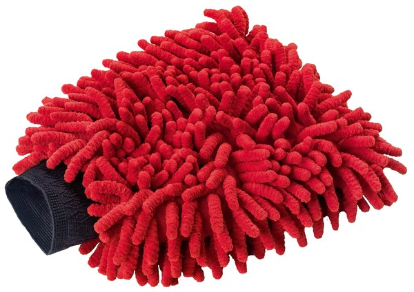 Waschhandschuh rot