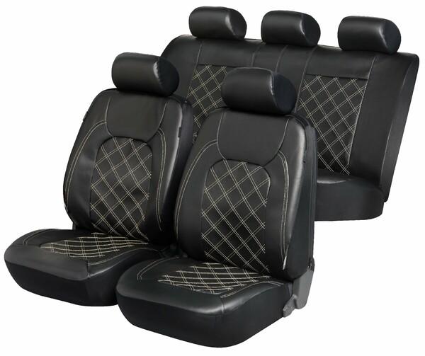 ZIPP IT Deluxe Paddington Auto Sitzbezüge aus Kunstleder mit Reissverschluss System