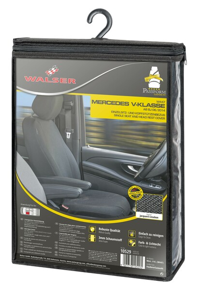Stoff Sitzbezug für Mercedes-Benz V-Klasse 477 (Fahrer) inkl. Armlehne innen Bj. ab 06/2014