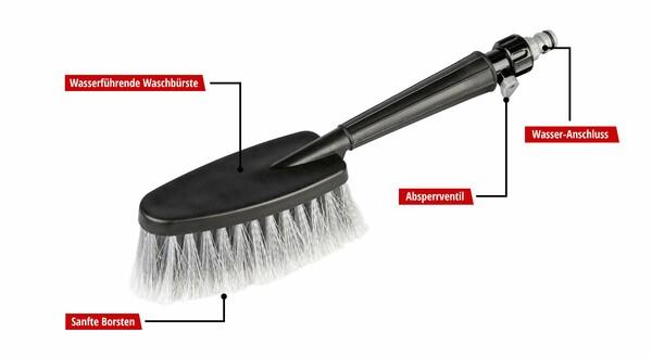 Waschbürste Universal mit Schlauchanschluss