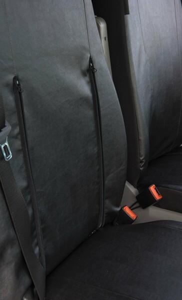 Sitzbezüge für VW Crafter Kunstleder Einzelsitz und Doppelbank vorne ab Baujahr 05/2006 - 05/2018