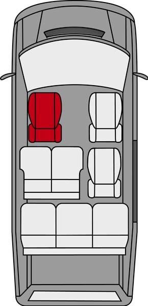 Kunstleder Sitzbezug für Mercedes-Benz V-Klasse 477 (Fahrer) inkl. Armlehne innen Bj. ab 06/2014