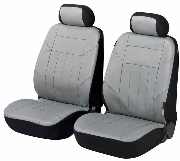 Autositzbezug Kunstleder Soft Nappa grau für Vordersitze