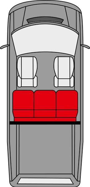 Sitzbezüge für VW T5 3er Bank Pritsche aus Kunstleder passend ab Baujahr 04/2003-06/2015