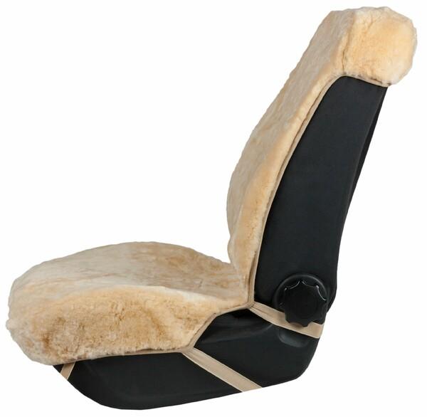 Autositzbezug Shauna Doppelkappenfell aus Lammfell beige mit ZIPP IT System