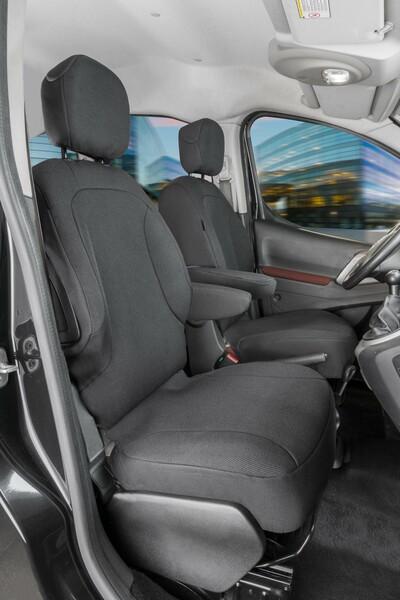Passform Sitzbezüge für Citroen Berlingo 2 Einzelsitze vorne aus Polyester ab Baujahr 05/2008 - 05/2018