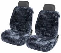 Autositzbezug Tiauna Doppelkappenfell aus Lammfell anthrazit mit ZIPP IT System
