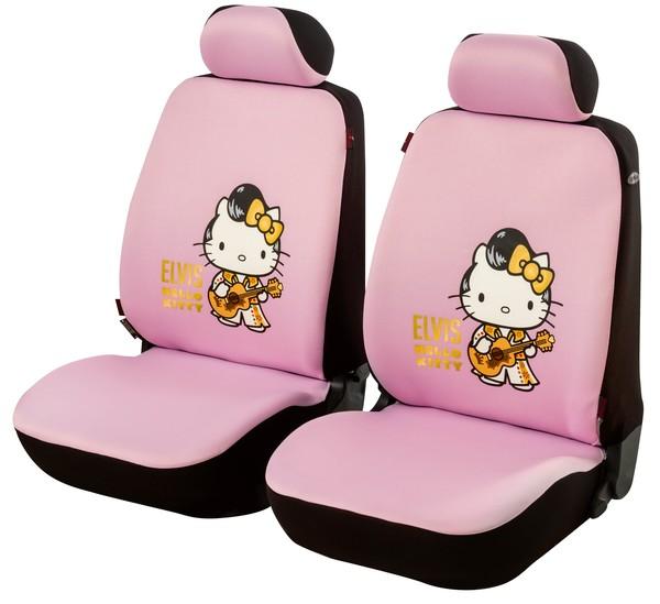 Elvis Hello Kitty Autositzbezug, 2VS 2tlg 2NS Guitar Man rosa