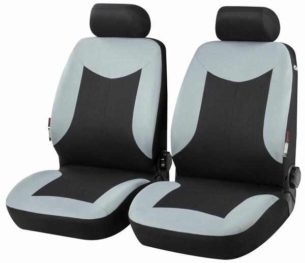 Autositzbezug Marshall grau für 2 Vordersitze