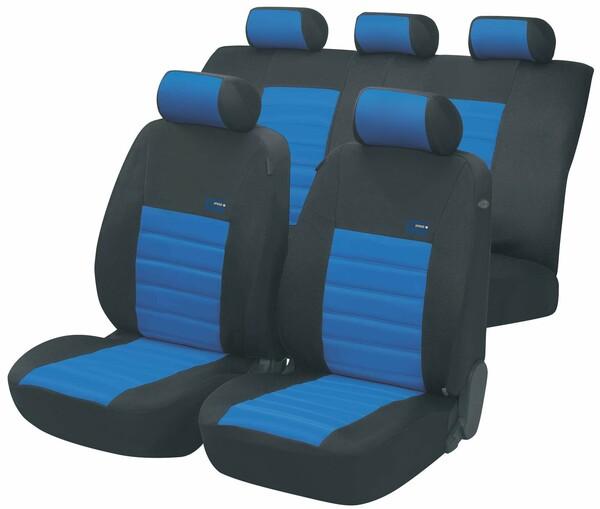 ZIPP IT Premium Sport Speed Auto Sitzbezüge mit Reissverschluss System in Blau