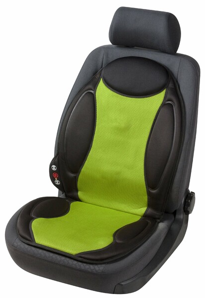 Sitzheizung Heizkissen Lounge schwarz grün mit Massagefunktion