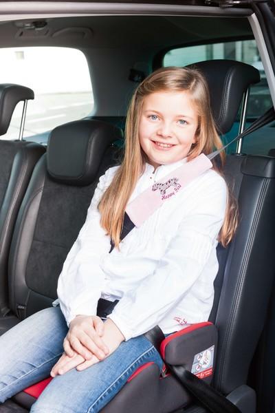 Zebra Gurtpolster Gurtschoner pink ab 5 Jahre