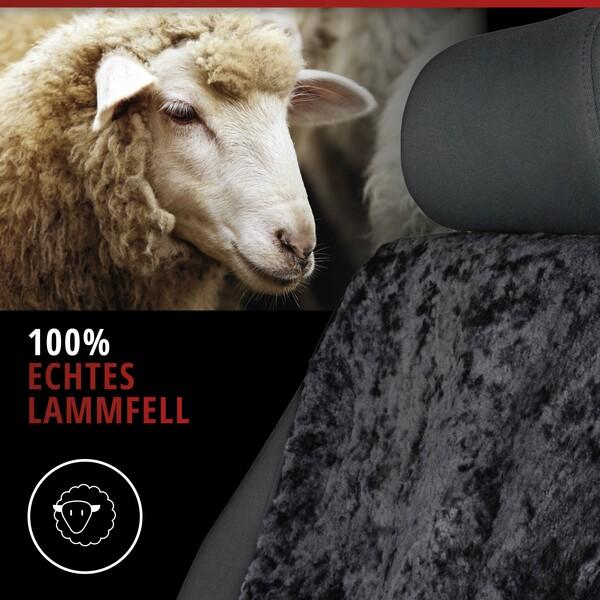 Sitzaufleger aus Lammfell Vogue schwarz 16-18mm Fellhöhe