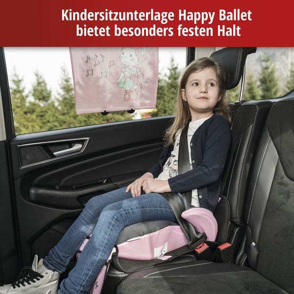 Kindersitzunterlage Ballet Doll grau/rosa