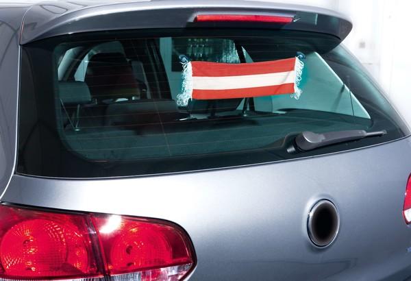 Auto-Fanschal Österreich mit Saugnäpfen 9 x 45 cm
