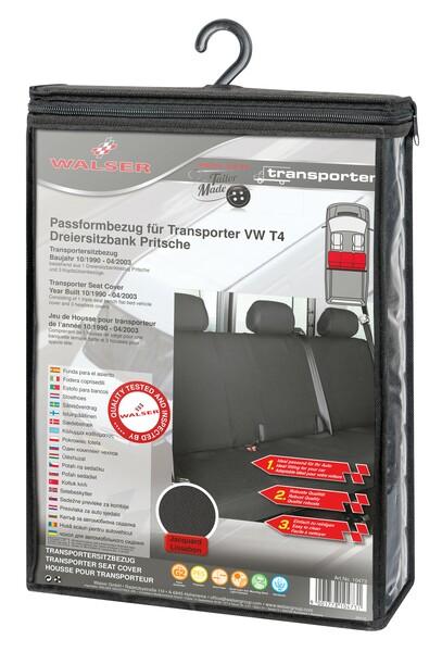 Sitzbezüge für VW T4 3er Bank Pritsche hinten aus Polyester für Baujahr 10/1998 - 03/2003