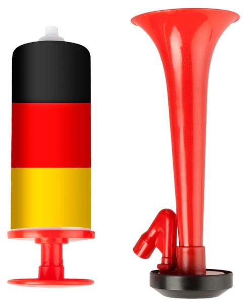 Luftdruck Fanfare Deutschland 7,5 x 19 cm