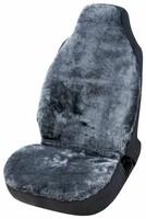 Autositzbezug Zoya aus Lammfell anthrazit mit ZIPP IT System für Highback Sitze