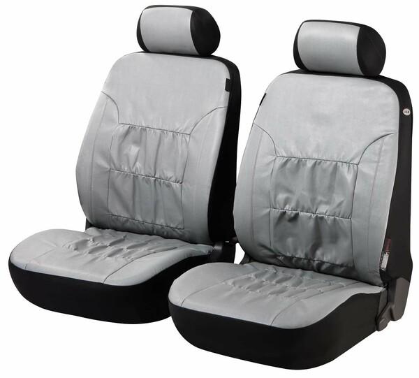 Autositzbezüge Nappa Touch grau für Vordersitze aus Kunstleder