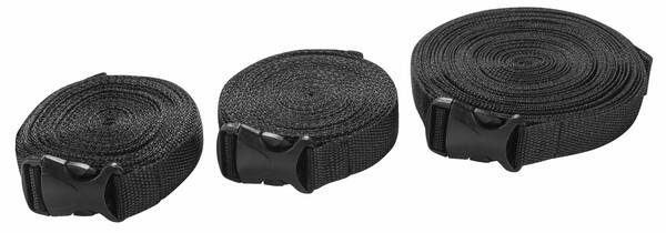 Spanngurt Set für Autoabdeckung 3 Stück schwarz