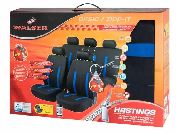 ZIPP-IT Basic Hastings blau Auto Sitzbezüge mit Reissverschluss System