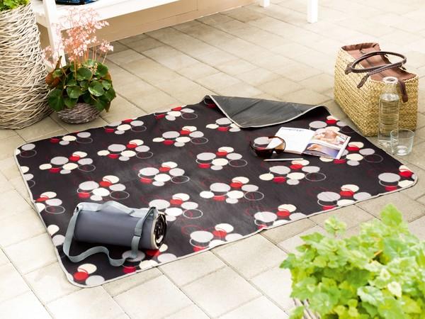 Reisedecke Picknickdecke Laura grau 125x134cm
