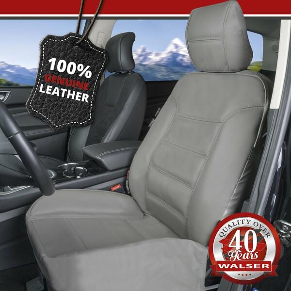 Autositzbezug Billy aus echtem Leder grau ZIPP-IT