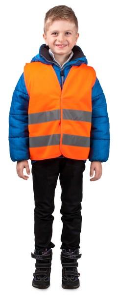 Sicherheitsweste Größe S für Kinder 10-12 Jahre Orange EN 1150