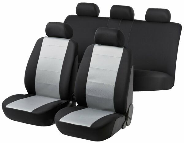 Autositzbezug Speed schwarz grau