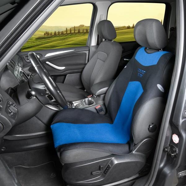 Auto Sitzbezug Universalgröße Tuning Star blau schwarz