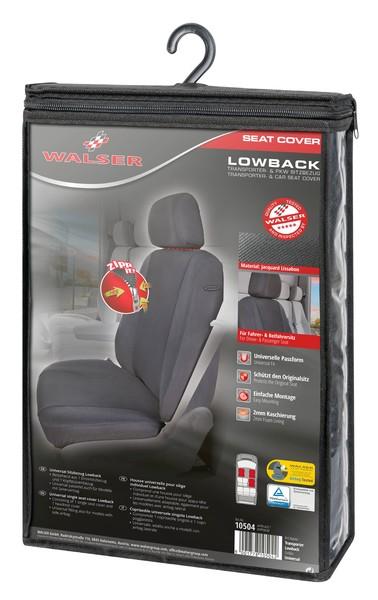Universal Lowback Autositzbezug mit Reissverschluss