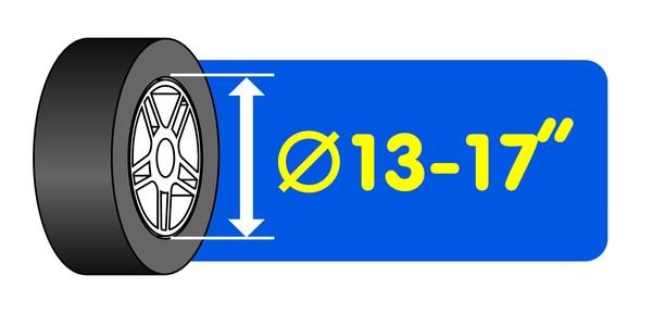 Reifen- und Felgenbaum 13 - 17 Zoll