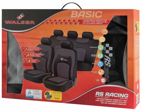 Autositzbezug RS Racing grau